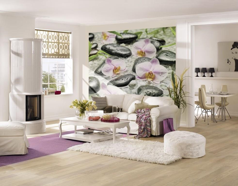 Галька и орхидея