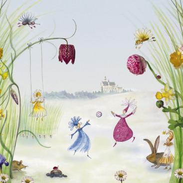 Мультяшные феи на полянке