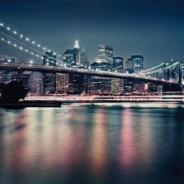 Неоновый Бруклинский мост