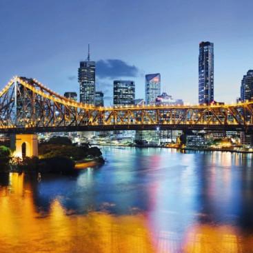 Ночной город Брисбен